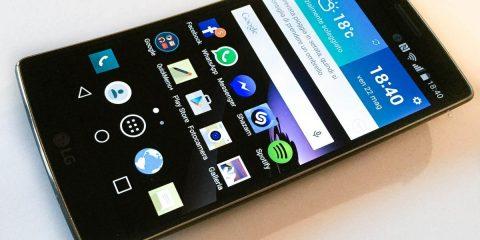 LG G Flex 2 schermo acceso
