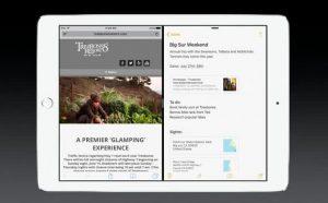 iOS 9 su iPad permetterà di avere a schermo le applicazioni affiancate