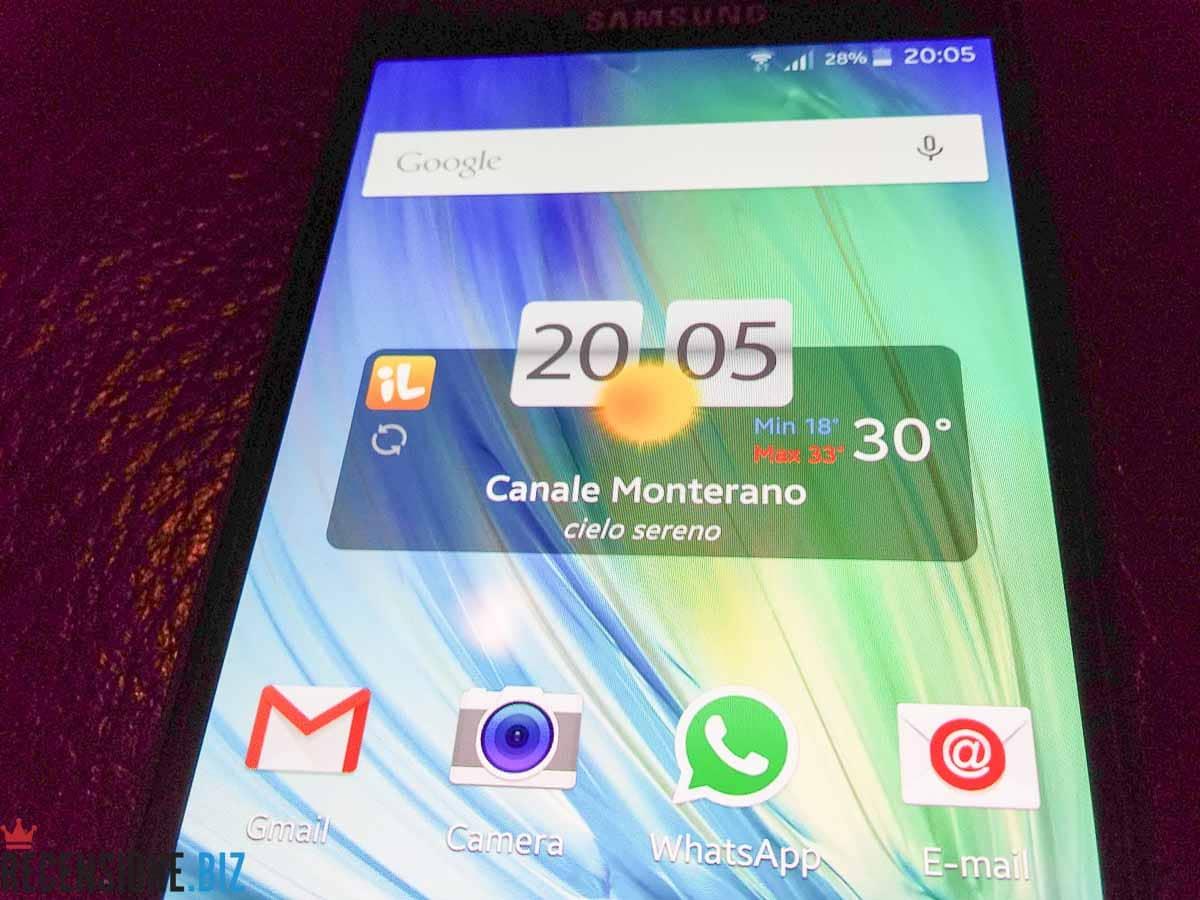Samsung Galaxy A5 SM-A500F-schermata principale