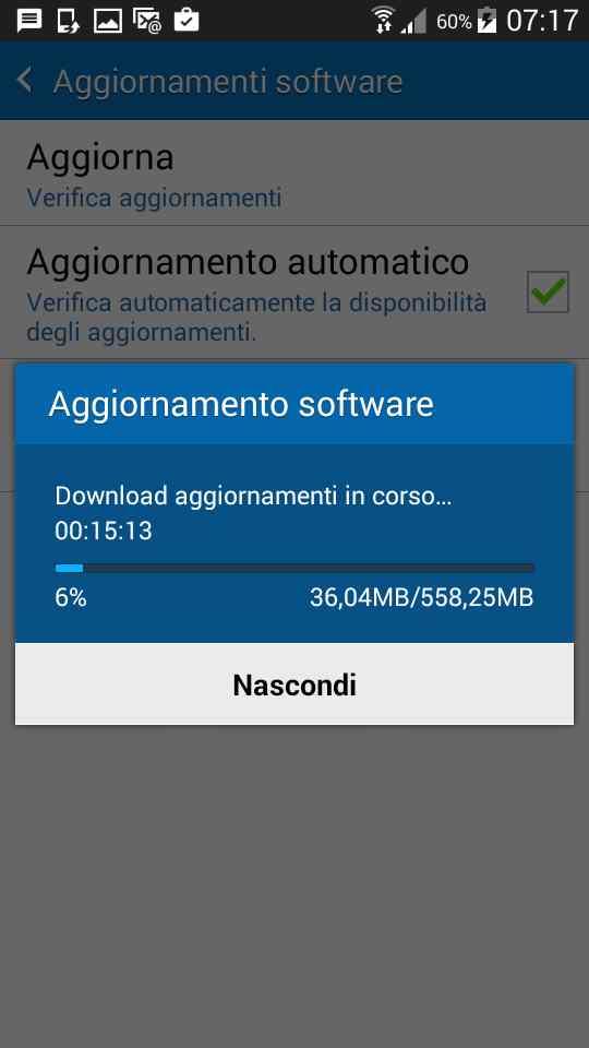 Aggiornamento Samsung Galaxy Grand Prime Lollipop 5.0.2 - scaricamento