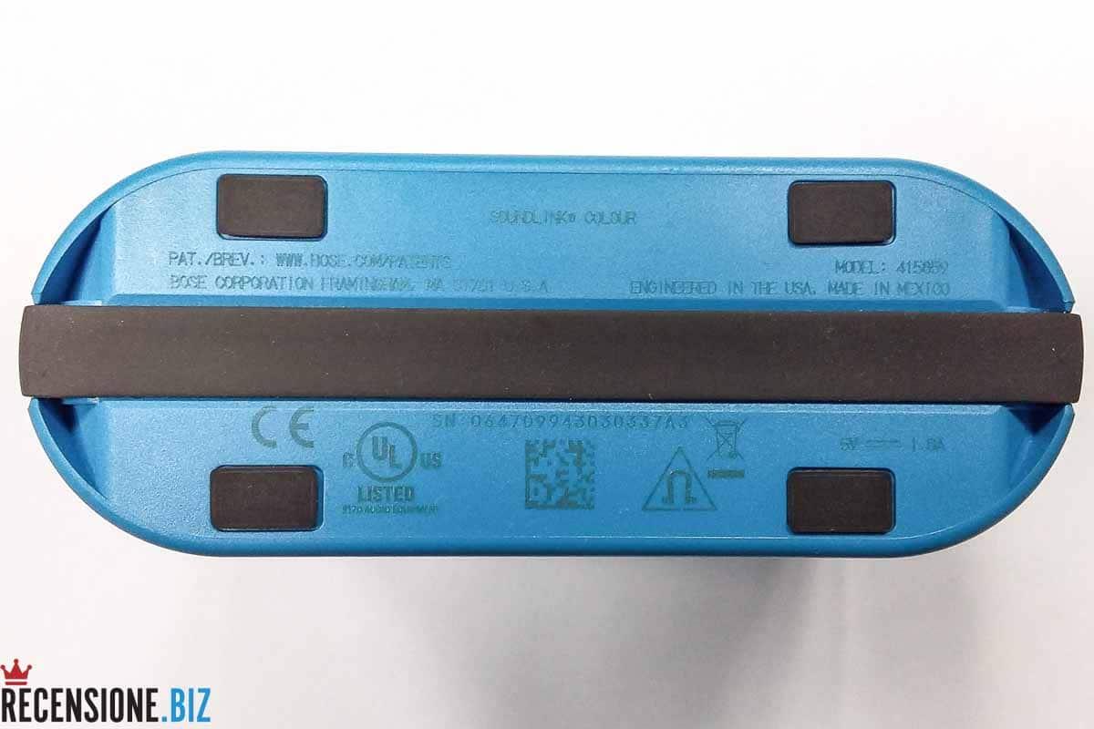 Cassa Bose SoundLink Colour Bluetooth posteriore