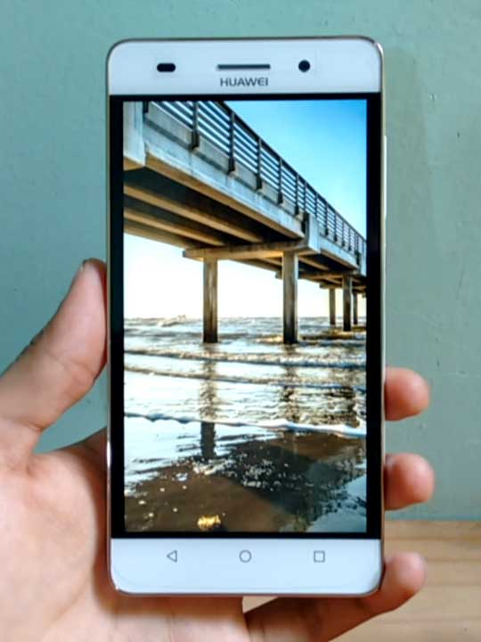 Huawei G Play Mini - schermo acceso