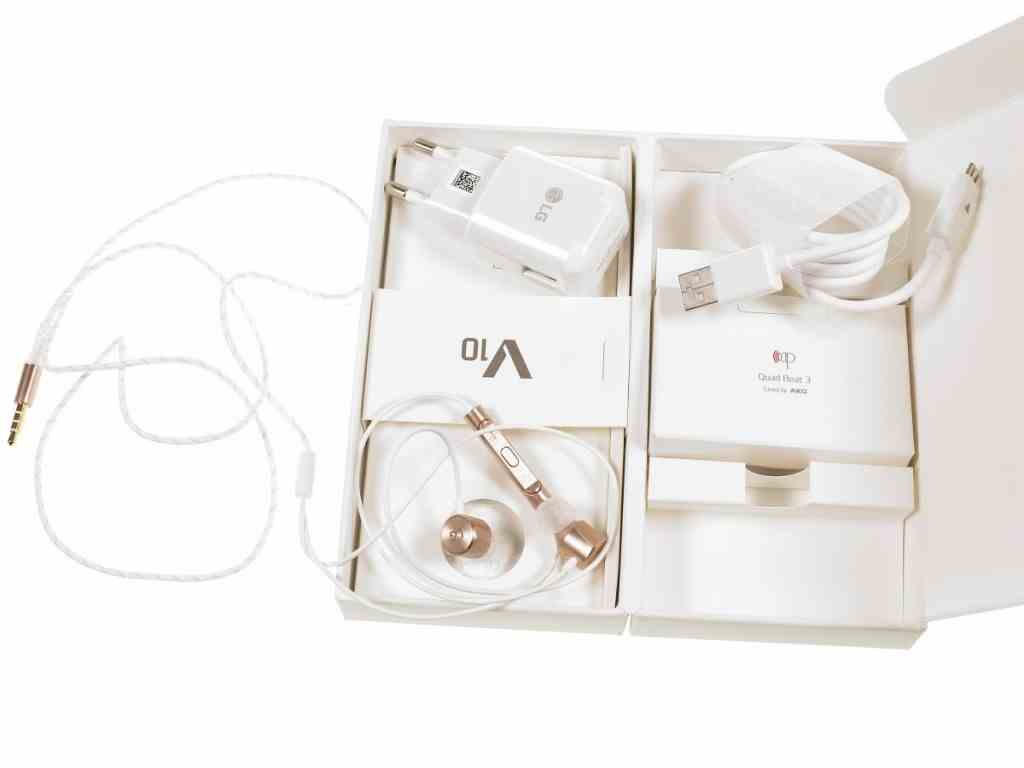 LG V10 - scatola con accessori