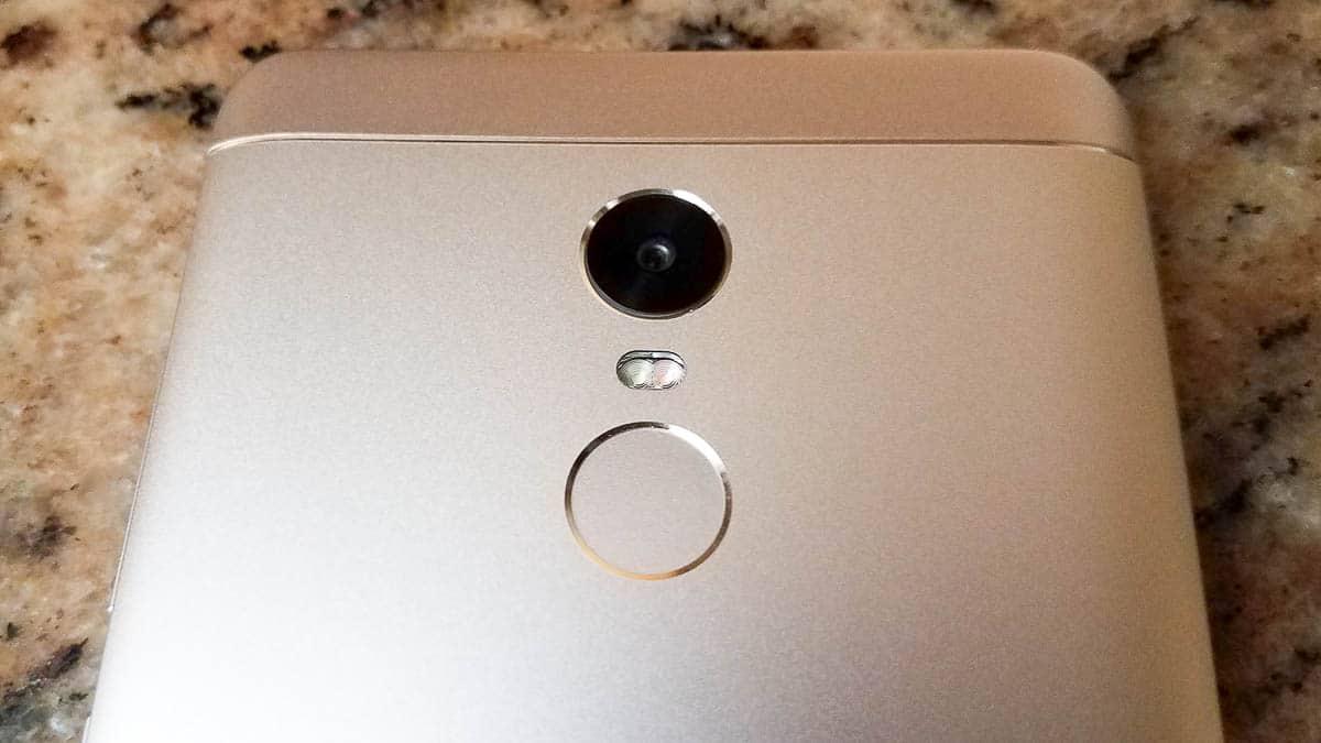 Xiaomi Redmi Note 4X dettaglio sensore e fotocamera