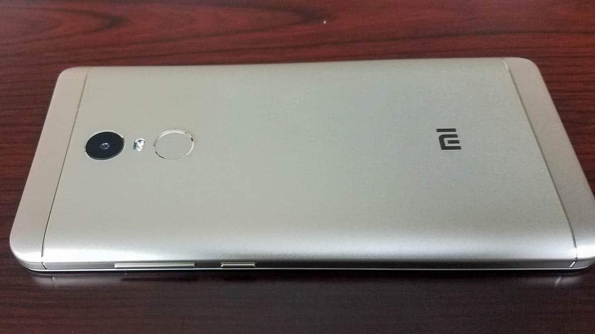 Xiaomi Redmi Note 4X posteriore
