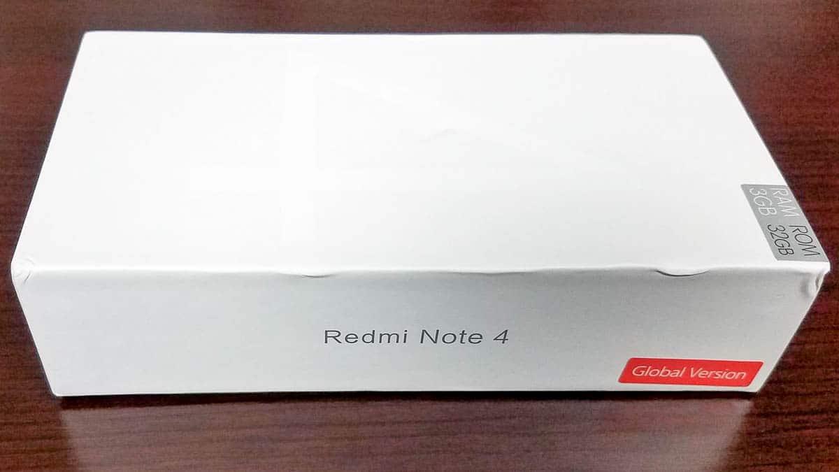 Xiaomi Redmi Note 4X scatola