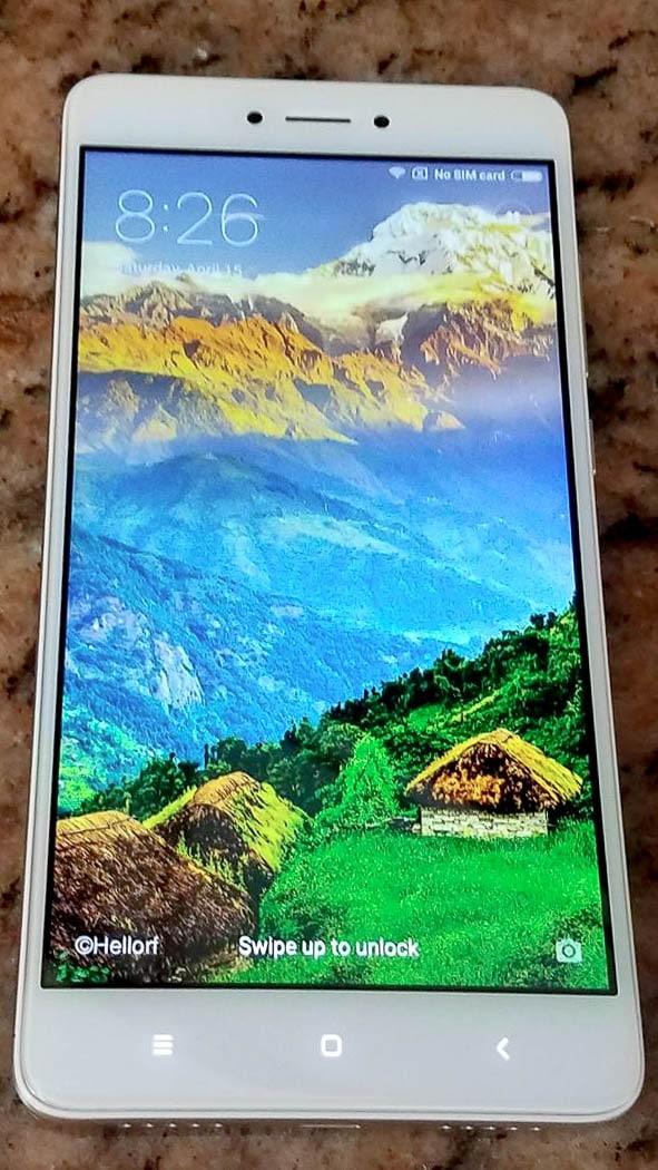 Xiaomi Redmi Note 4X schermo acceso