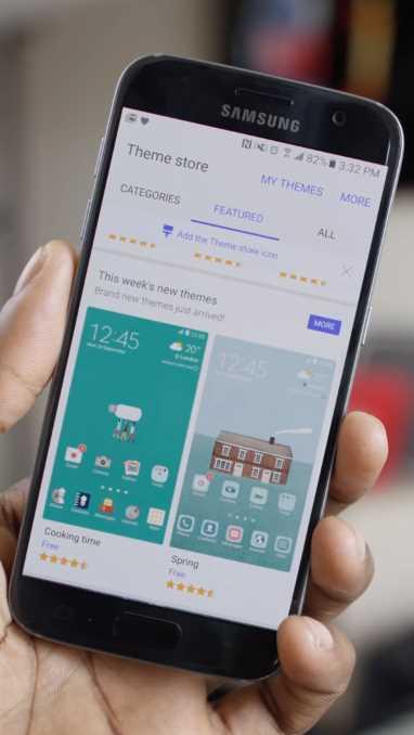 Recensione Samsung Galaxy S7 - store dei temi su Android 6