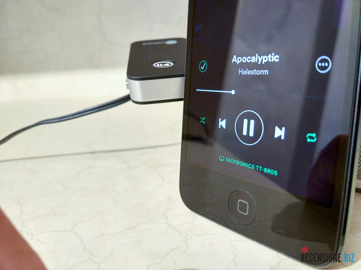 Taotronics TT-BR05 connesso ad Apple iPod