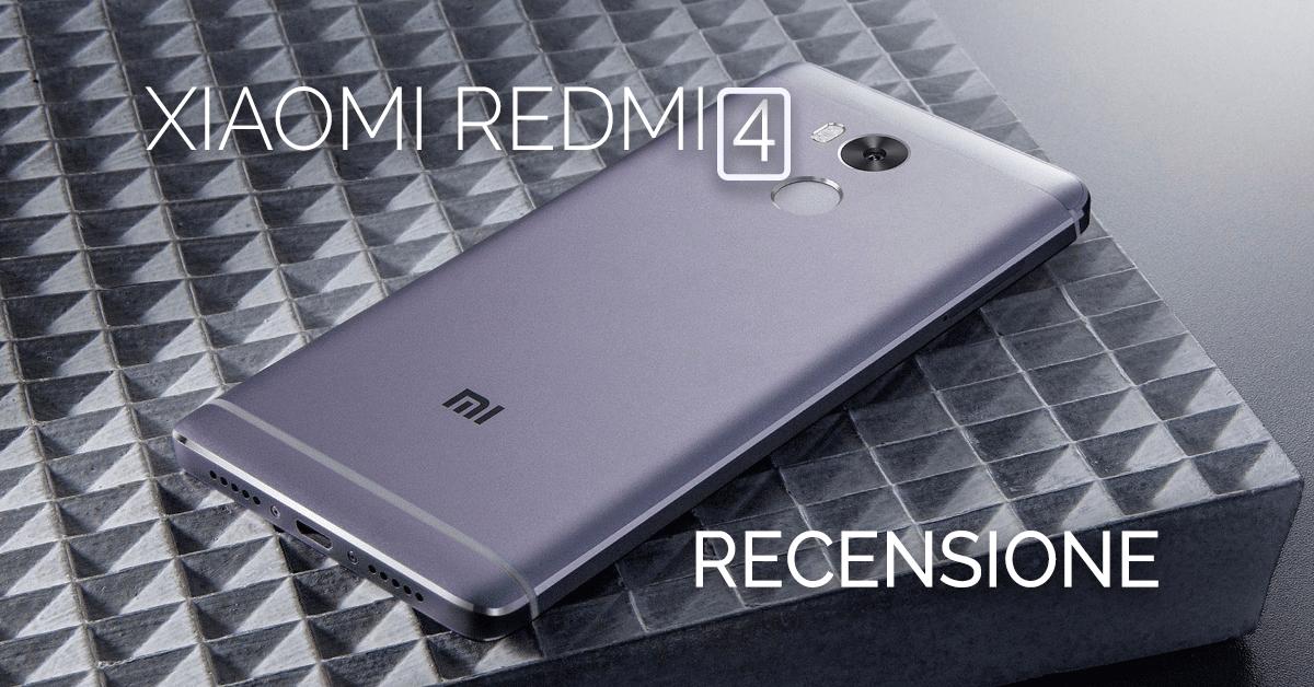 Xiaomi Redmi 4 recensione copertina